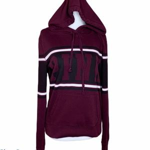 PINK VICTORIA'S SECRET burgundy pull over hoodie M